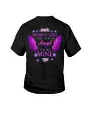 Daddy's Girl Angel Black Youth T-Shirt thumbnail