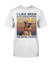 Beer and German Shepherd hp Classic T-Shirt front