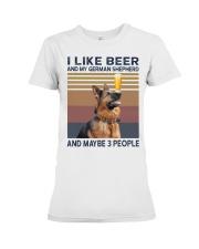 Beer and German Shepherd hp Premium Fit Ladies Tee thumbnail