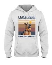 Beer and German Shepherd hp Hooded Sweatshirt thumbnail