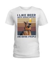 Beer and German Shepherd hp Ladies T-Shirt thumbnail