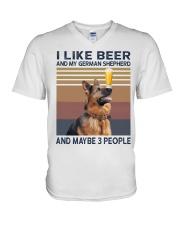 Beer and German Shepherd hp V-Neck T-Shirt thumbnail