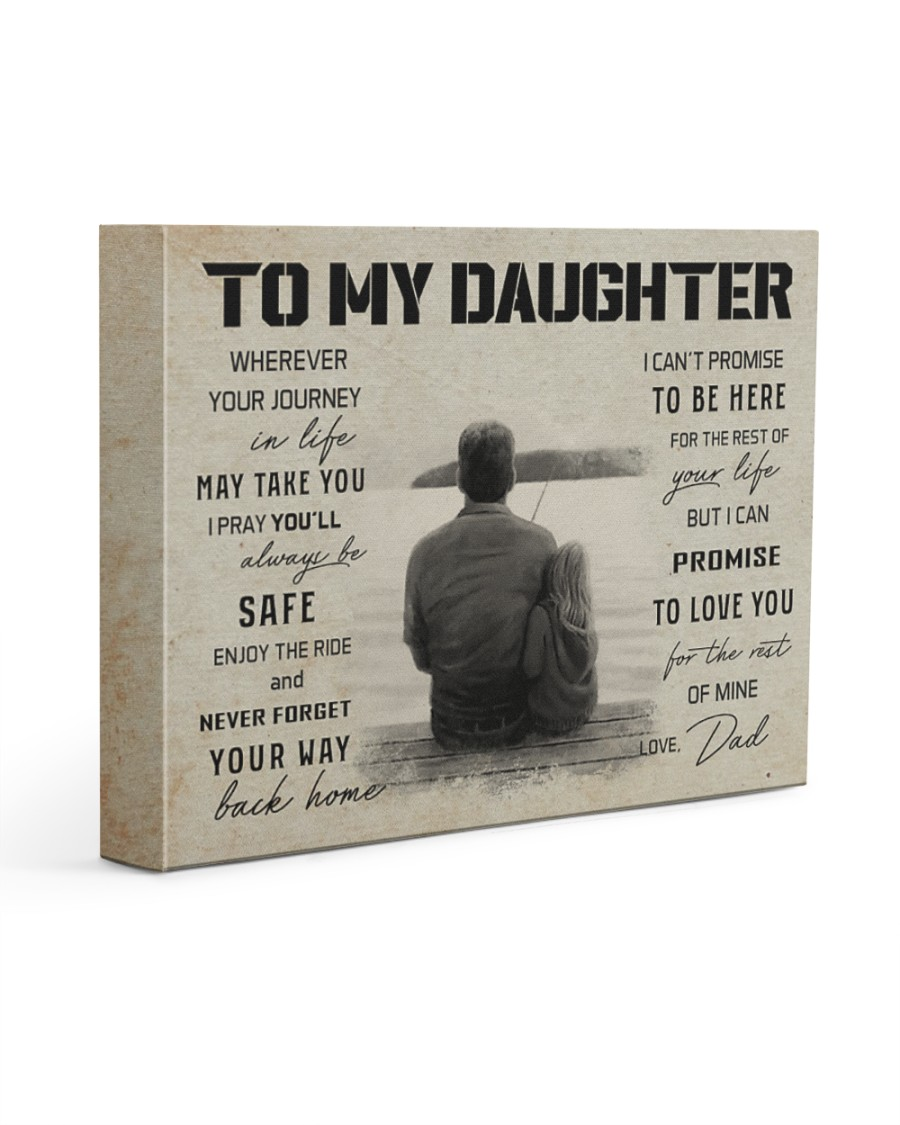 16 FISHING TO MY DAUGHTER 14x11 Gallery Wrapped Canvas Prints