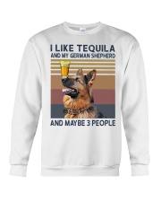 Tequila and German Shepherd Crewneck Sweatshirt thumbnail
