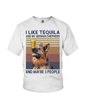 Tequila and German Shepherd Youth T-Shirt thumbnail