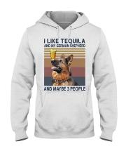 Tequila and German Shepherd Hooded Sweatshirt thumbnail