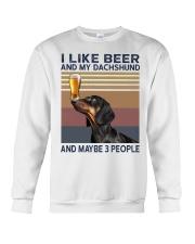 Beer and Dachshund Crewneck Sweatshirt thumbnail
