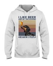 Beer and Dachshund Hooded Sweatshirt thumbnail
