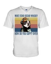 Boston Terriers Mike Echo V-Neck T-Shirt thumbnail