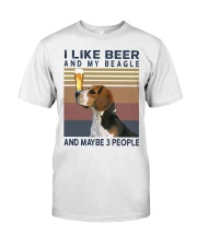 Beer and Beagles hp Classic T-Shirt front
