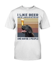 beer and Black Labrador Classic T-Shirt front