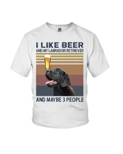 beer and Black Labrador Youth T-Shirt tile