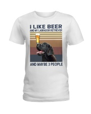 beer and Black Labrador Ladies T-Shirt tile