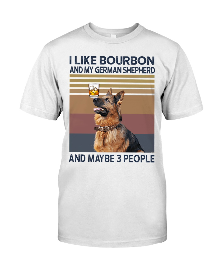 Bourbon and German Shepherd Classic T-Shirt