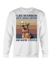 Bourbon and German Shepherd Crewneck Sweatshirt thumbnail