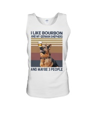 Bourbon and German Shepherd Unisex Tank thumbnail