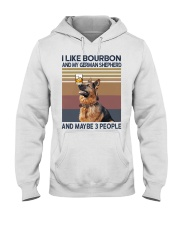 Bourbon and German Shepherd Hooded Sweatshirt thumbnail