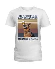 Bourbon and German Shepherd Ladies T-Shirt thumbnail