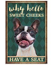 Boston Terrier why hello 11x17 Poster thumbnail