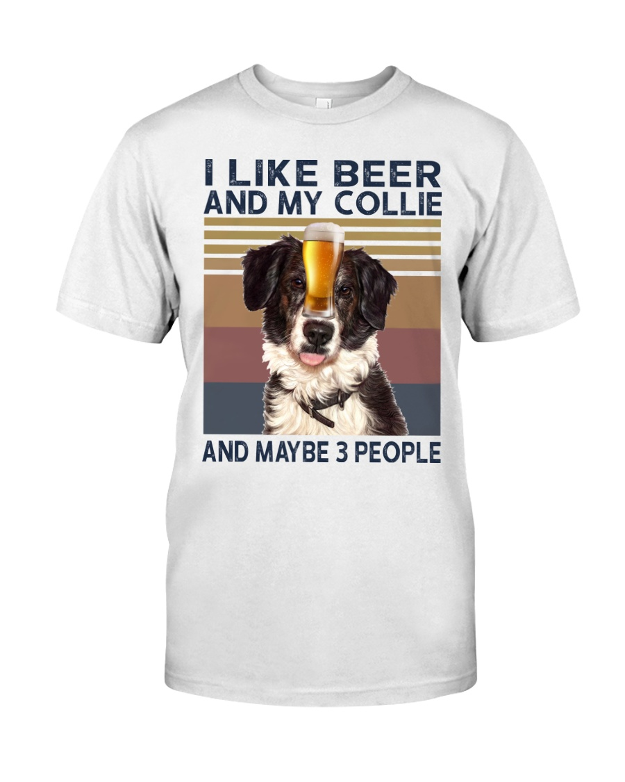 I LIKE BEER AND COLLIE Classic T-Shirt