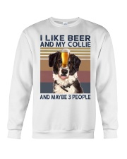 I LIKE BEER AND COLLIE Crewneck Sweatshirt thumbnail
