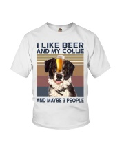 I LIKE BEER AND COLLIE Youth T-Shirt thumbnail