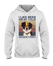 I LIKE BEER AND COLLIE Hooded Sweatshirt thumbnail