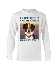 I LIKE BEER AND COLLIE Long Sleeve Tee thumbnail