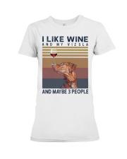 Wine and Vizsla Premium Fit Ladies Tee thumbnail