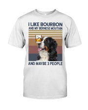 Bourbon and Bernese Moutain Classic T-Shirt front