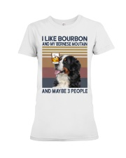 Bourbon and Bernese Moutain Premium Fit Ladies Tee thumbnail
