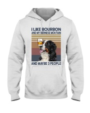 Bourbon and Bernese Moutain Hooded Sweatshirt thumbnail