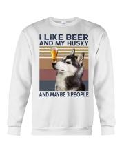 Beer and husky Crewneck Sweatshirt thumbnail
