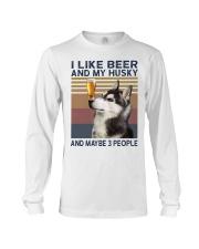 Beer and husky Long Sleeve Tee thumbnail