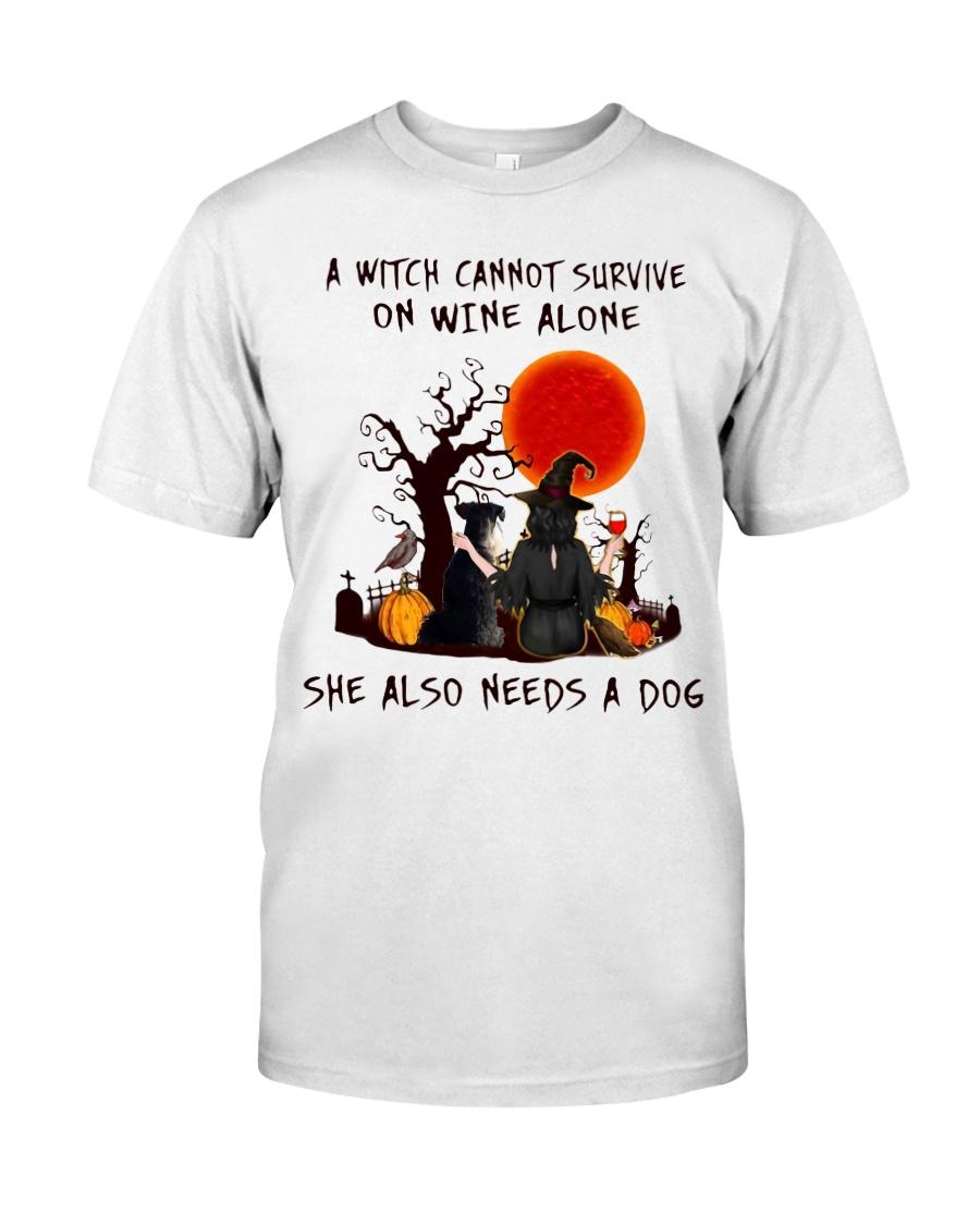 Witch Wine Miniature Schnauzer Classic T-Shirt