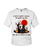 Witch Wine Miniature Schnauzer Youth T-Shirt thumbnail