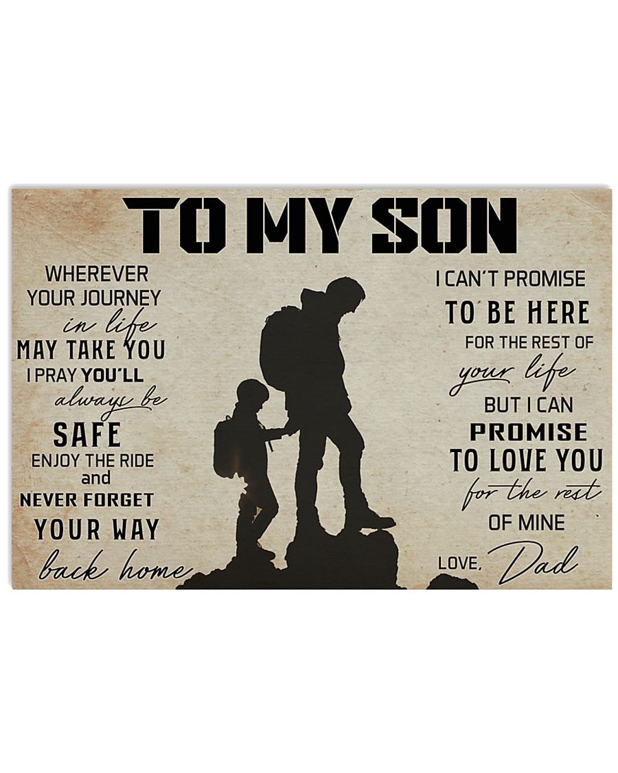 TO MY SON WHEREVER YOUR JOURNEY - HIKING 17x11 Poster