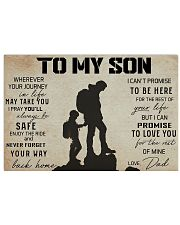 TO MY SON WHEREVER YOUR JOURNEY - HIKING 17x11 Poster front