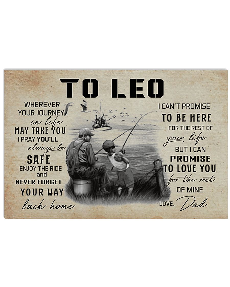 TO LEO FISHING 17x11 Poster