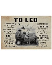 TO LEO FISHING 17x11 Poster front
