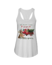 Golden Retriever Christmas Ladies Flowy Tank thumbnail