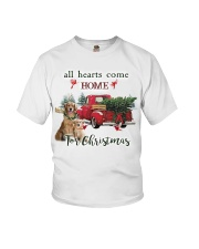 Golden Retriever Christmas Youth T-Shirt thumbnail