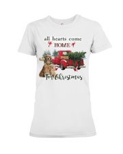 Golden Retriever Christmas Premium Fit Ladies Tee thumbnail