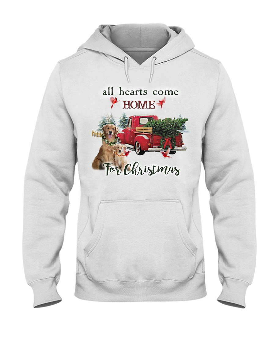 Golden Retriever Christmas Hooded Sweatshirt