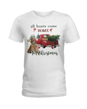 Golden Retriever Christmas Ladies T-Shirt thumbnail