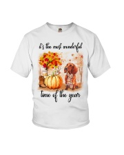 Dachshunds love fall Youth T-Shirt tile