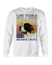 Tequila and Saint Bernard Crewneck Sweatshirt thumbnail