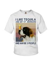 Tequila and Saint Bernard Youth T-Shirt thumbnail