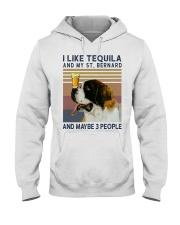 Tequila and Saint Bernard Hooded Sweatshirt thumbnail