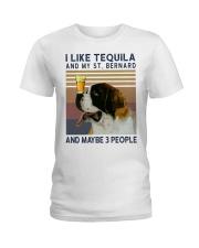 Tequila and Saint Bernard Ladies T-Shirt thumbnail